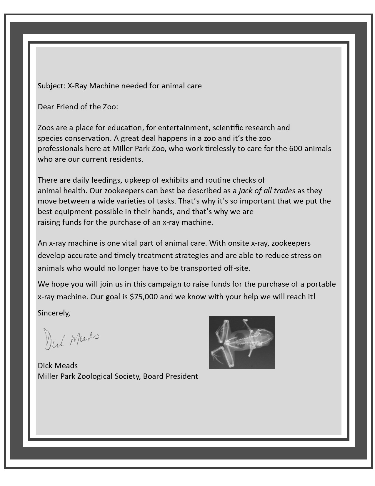 X-Ray Letter